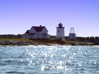 Hendricks Head Lighthouse in West Southport, Maine