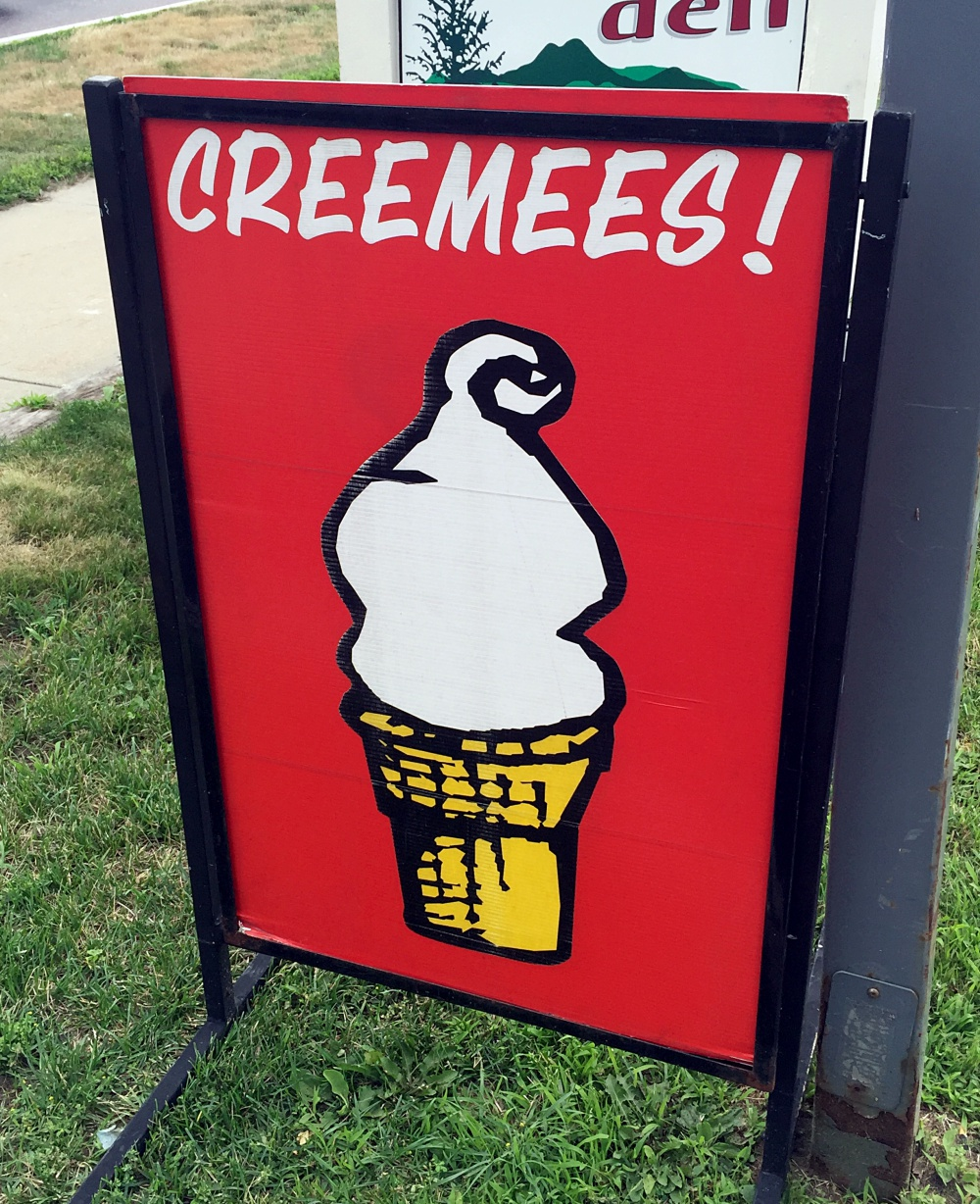 Maple Creemee Sign in Vermont