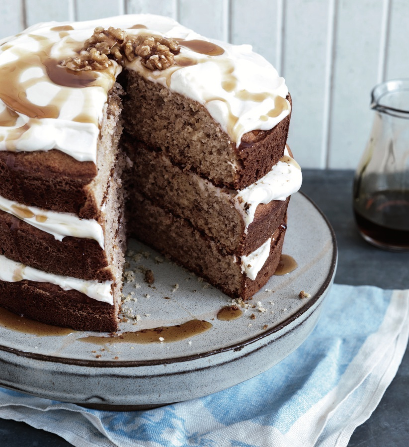 Maple-Walnut Layer Cake Recipe With Easy Maple Frosting
