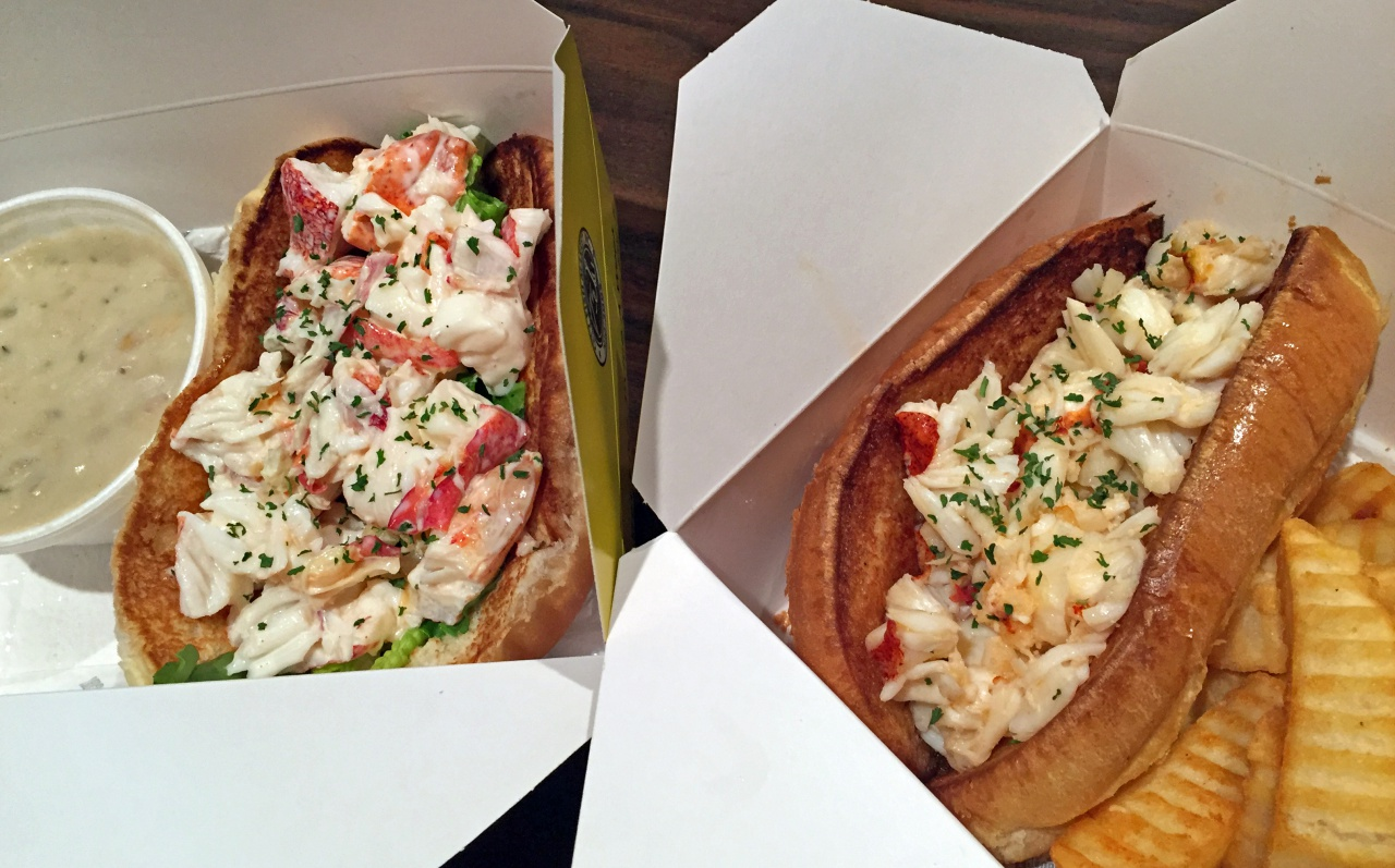 City Fish Markets cold (left) and hot (right) lobster rolls.