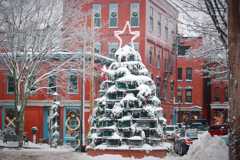 Portland, ME | New England Lobster Trap Trees