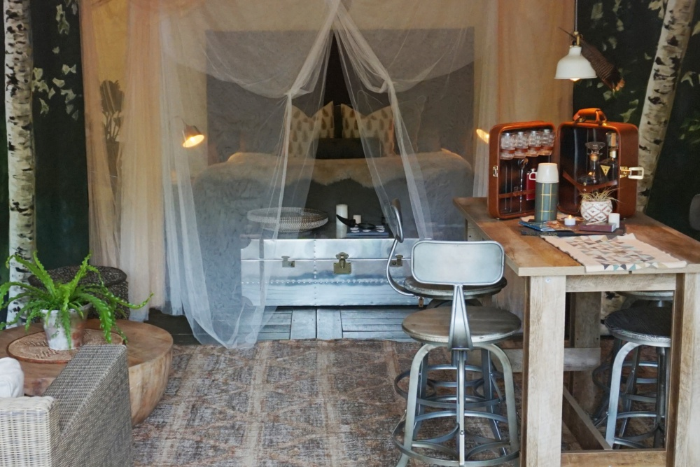 Vintage touches in Base Camp by Krista Stokes.