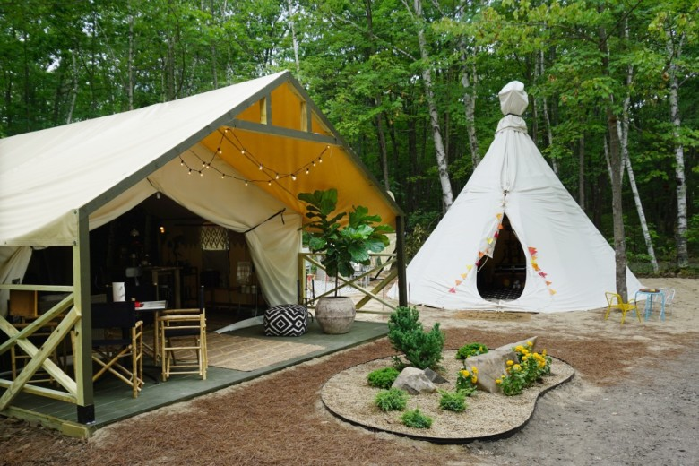 We Toured The Ultimate Glamping Tents At Sandy Pines