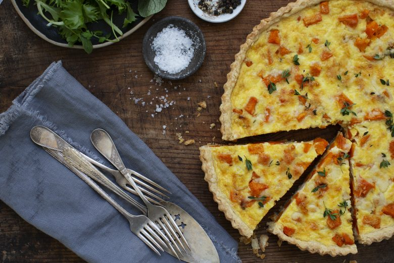 Woodstock Inn Herbed Winter Squash Tart with Cheddar Custard - New England Today