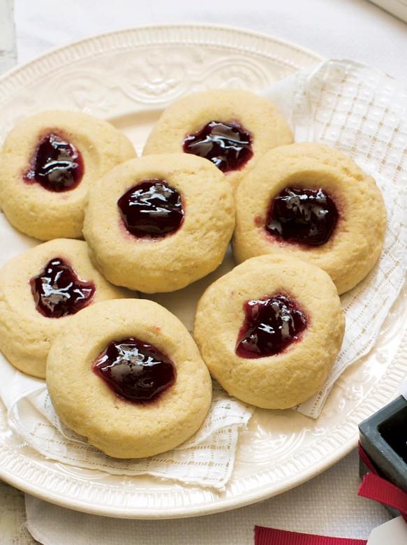 Gluten-Free Cornmeal Thumbprint Cookies