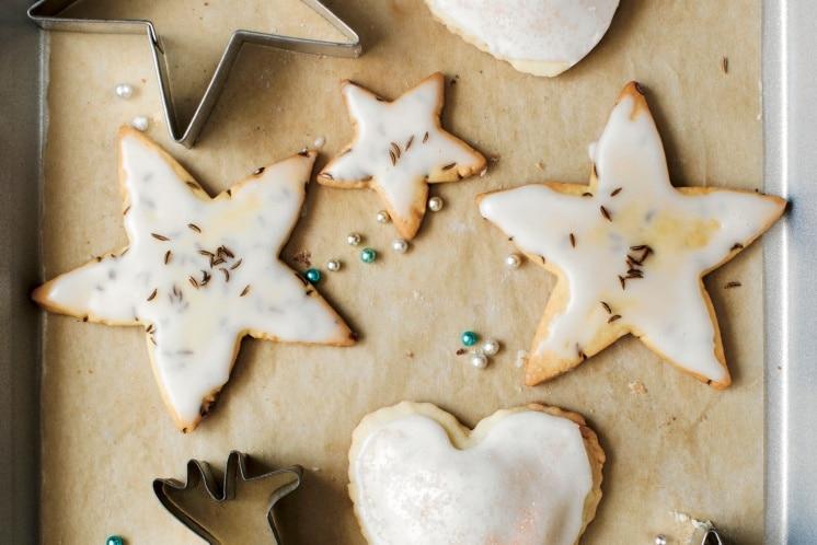 Lemon-Glazed Caraway Cookies